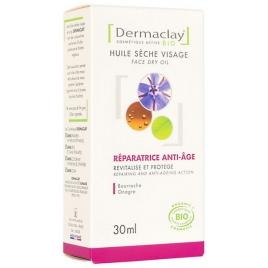Dermaclay  Huile sèche visage réparatrice anti âge Onagre Bourrache 30ml