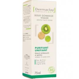 Dermaclay Gommage doux visage unifiant purifiant 75ml Dermaclay  Gommage visage Onaturel.fr