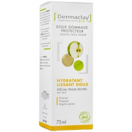 Dermaclay  Gommage doux visage hydratant lissant 75ml