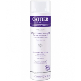 Cattier Perle d'Eau Solution Micellaire Démaquillante Rose Aloe 300ml Cattier Soins démaquillants Bio Onaturel.fr