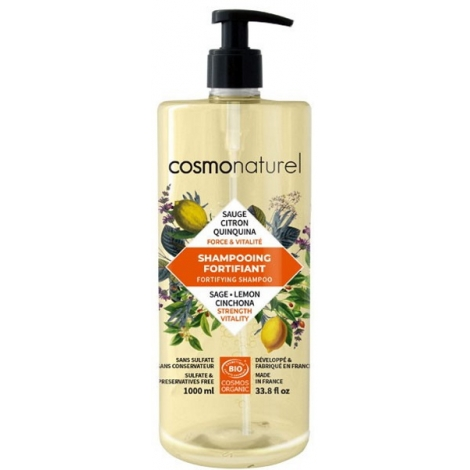 Cosmo Naturel Shampoing Fortifiant Quinquina Sauge Citron 1L