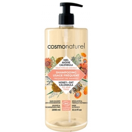 Cosmo Naturel Shampoing usage fréquent Miel Calendula Avoine 1L Cosmo Naturel Shampooings Format familial Onaturel.fr