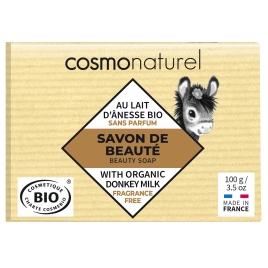 Cosmo Naturel Savon au lait d'ânesse Karité sans parfum 100g Cosmo Naturel Savons Bio et Naturels Onaturel.fr