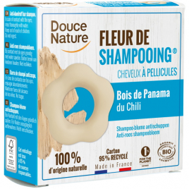 Douce Nature Fleur de Shampooing solide antipelliculaire Argile blanche Zinc Thym 85g Douce Nature Shampooings Anti-pellicula...