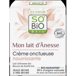 So'Bio étic Crème onctueuse nourrissante au lait d'anesse 50ml So'Bio étic Boissons Bio Onaturel.fr