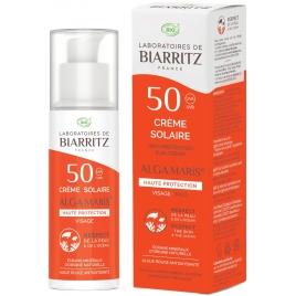 Alga Maris Crème Solaire visage SPF50 50ml Aloé Vera et Alga Gorria Alga Maris Protection solaire Bio Onaturel.fr