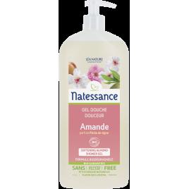 Natessance Douche crème Amande parfum Pêche de vigne Sans Sulfates 1L