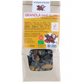 Le Moulin D Arche Granola sans gluten Muesli fruits secs, chocolat et riz 300gr Le Moulin D Arche Accueil Onaturel.fr