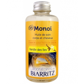 Laboratoires De Biarritz Monoi Vanille des îles 100ml Laboratoires De Biarritz Accueil Onaturel.fr