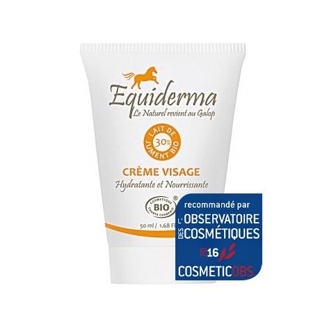 Equiderma Crème visage au lait de jument 50 ml Equiderma Soins anti-âge Bio Onaturel.fr