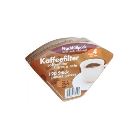 Droguerie Ecologique 120 filtres à café non blanchis n°4 Droguerie Ecologique