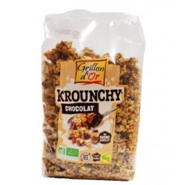 Grillon d'or Krouchy familial Chocolat 1kg Grillon d'or Accueil Onaturel.fr
