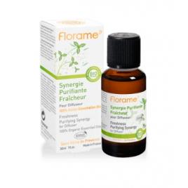 Florame Synergie purifiante pour diffusion Fraîcheur 30ml Florame Synergie huiles essentielles Bio Onaturel.fr