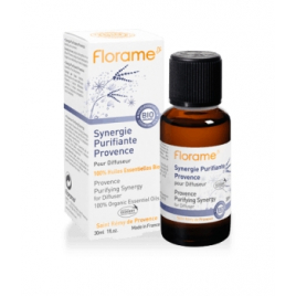 Florame Synergie purifiante pour diffusion Provence 30ml Florame Synergie huiles essentielles Bio Onaturel.fr