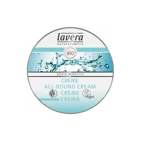 Lavera Crème multi usages visage et corps Beurre de karité Amande douce BASIS 25ml Lavera Accueil Onaturel.fr