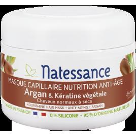 Natessance Masque Capillaire Nutrition Intense, Protecteur anti âge 200ml