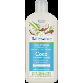 Natessance Shampooing extra doux usage fréquent coco et kératine végétale 250ml Natessance