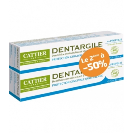 Cattier Lot de 2 Dentargile à la Propolis Protection des gencives 2X100g Cattier Dentifrices bio Onaturel.fr