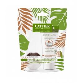 Cattier Kit Hiver duo ultra nourrissant mini beurre de karité et crème mains Cattier Soins des lèvres Bio Onaturel.fr