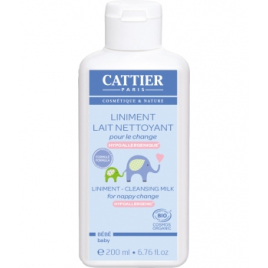 Cattier Liniment Lait nettoyant pour le change 200ml Cattier Change Bio Onaturel.fr