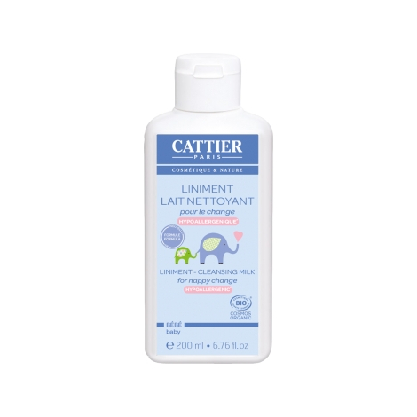 Cattier Liniment Lait nettoyant pour le change 200ml Cattier