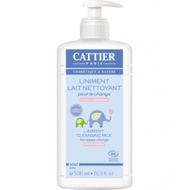 Cattier Liniment Lait nettoyant pour le change 500ml Cattier Change Bio Onaturel.fr