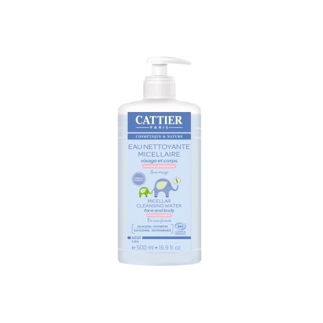 Cattier Eau nettoyante micellaire bébé Amande douce et Calendula 500ml Cattier