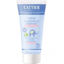 Cattier Crème hydratante bébé Visage et Corps à l'Amande douce 75ml Cattier Soins bébé visage Bio Onaturel.fr