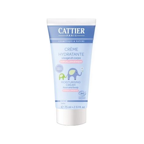 Cattier Crème hydratante bébé Visage et Corps à l'Amande douce 75ml Cattier