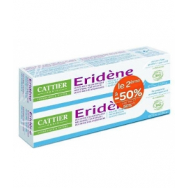 Cattier Lot de 2 Dentifrice blanchissant Eridène Haleine fraîche Tube 75g Cattier Dentifrices bio Onaturel.fr