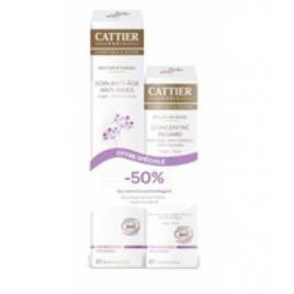 Cattier Nectar Eternel Soin anti âge anti rides 50ml + concentré regard 15ml à 50% Cattier Soins anti-âge Bio Onaturel.fr