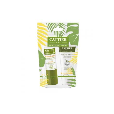 Cattier Kit Hiver duo Hydratant Crème Mains sèches 30ml + Soin des Lèvres 4g Cattier