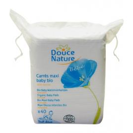 Douce Nature 60 carrés Maxi Baby coton bio et équitable Douce Nature Soins du visage Bio Onaturel.fr