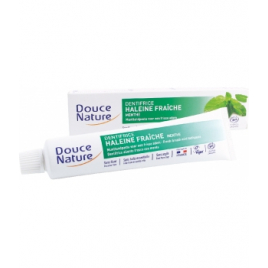 Douce Nature Dentifrice haleine fraîche à la menthe 75ml Douce Nature Dentifrices bio Onaturel.fr