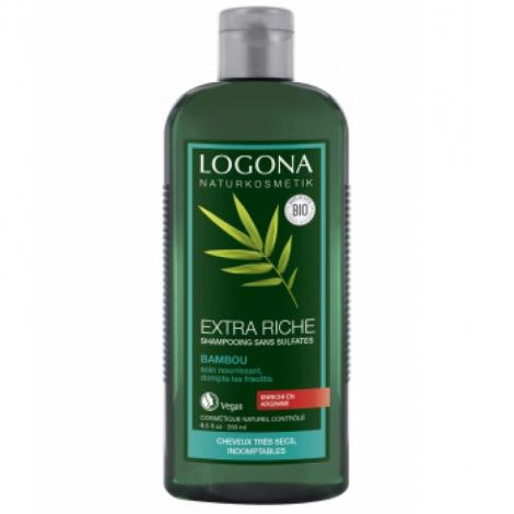 Logona Shampooing Crème au Bambou Volume Brillance et Ressort 250ml