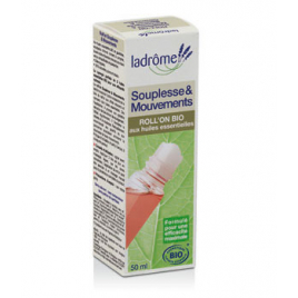 Ladrome Roll on Souplesse et Mouvements 50ml Ladrome Roll-on huiles essentielles Bio Onaturel.fr