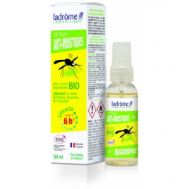 Ladrome Spray Anti Moustiques 50 ml Ladrome Synergie huiles essentielles Bio Onaturel.fr
