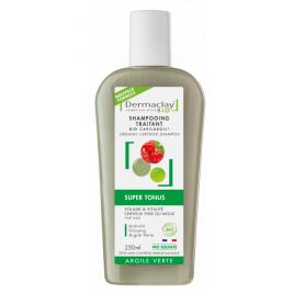 Dermaclay Shampoing Super Tonus 250ml Dermaclay  Shampooings Bio et Soins capillaires Onaturel.fr