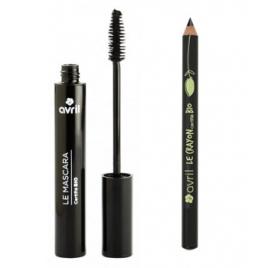 Le Monde du Bio Lot mascara + crayon contour des yeux Noir