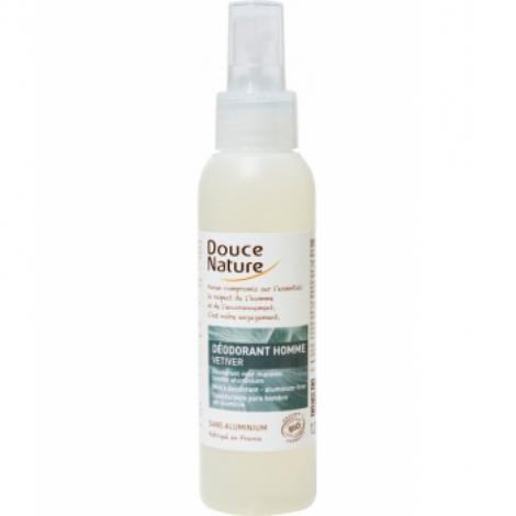 Douce Nature Spray Déodorant Homme au Vétiver Bio 125ml