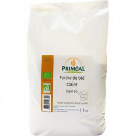 Primeal Farine claire de blé Borsa type 65 1kg Primeal Farines Bio Onaturel.fr