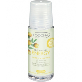 Logona Déodorant Roll on Energy Citron et Gingembre 50ml