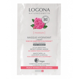 Logona Masque hydratant lissant Rose de Damas bio / Kalpariane 2x7,5 ml