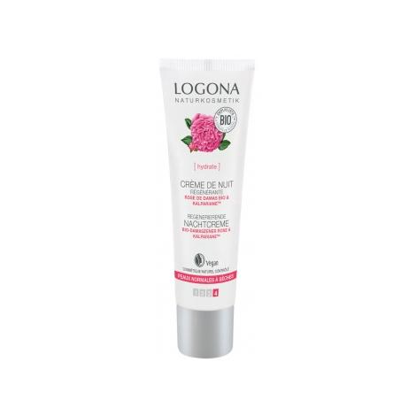Logona Crème de nuit régénérante Rose de Damas bio / Kalpariane 30 ml