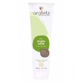 Argiletz Tube de pâte d'argile verte tube de 400g Argiletz Soins à l'argile bio Onaturel.fr