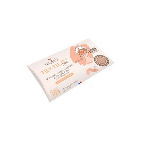 Argiletz Masque visage à l'argile rose textilit x3 Argiletz Soins à l'argile bio Onaturel.fr