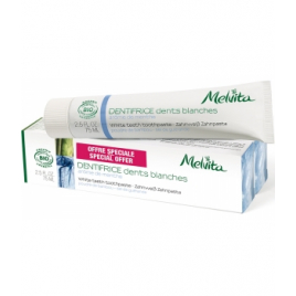 Melvita Duo Dentifrice Dents blanches Arôme de menthe 2 X 75ml Melvita Accueil Onaturel.fr