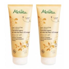 Melvita Duo Gel douche camélia et miel de fleur d'oranger 2x200ml