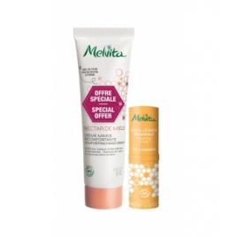 Melvita Kit crème confort et stick lèvres Nectar de miels