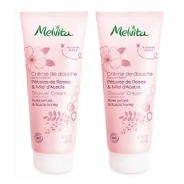 Melvita Duo Crème de douche pétales de roses et miel d'acacia 2x200ml Melvita Accueil Onaturel.fr